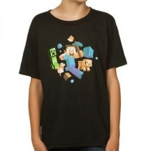Футболка Minecraft Run Away! Glow in the Dark Youth Tee (размер L)