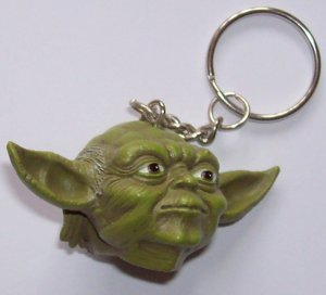 Брелок Star Wars Yoda Head Keychain